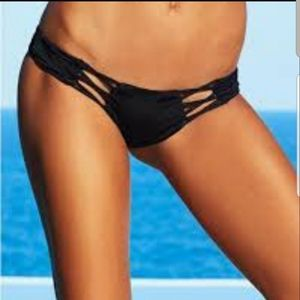 NWT Criss Cross Skimpy Black BB bottoms